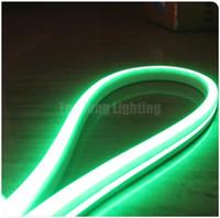 néon lumières latérales achat en gros de-50m bobine 12v éclairage décoratif 11x19mm plat carré led néons unique couleur flexible Noël neon-flex corde vue latérale