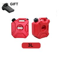Wholesale Motorcycle Tank Mount - Wholesale- New Outdoor Camping 3L Fuel Tank Cans Spare Plastic Petrol Tanks Mount Motorcycle CarJerrycan Gas Can Gasoline Long Trip