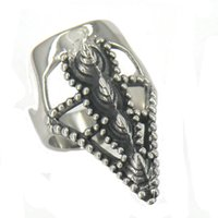 MENS INOX or WOMEN PUNK VINTAGE TRIBAL anello del braccio del rinoceronte del braccio ANELLO DEL SIGNET RING 11W59