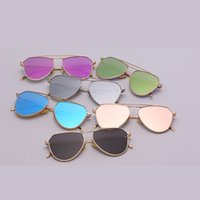 Wholesale Metal Memory Frame - 2016 new fashion women sunglasses love ponch Memory metal Dazzle colour polygon Picture frame free shipping