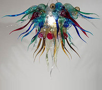 Modern spanish style lamps - Spanish Style Glass Art Design Chandelier Light Multi Colored Handmade Blown Glass Pendant Lamps LED Light Source Modern Crystal Small Lamps