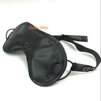 Wholesale Mask Bag - New Item 2pcs lot Fashion VIP Gift C style Travel Blindfold Sleeping Eye Mask with logo