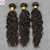 moda hair оптовых-Малазийская волна воды девственницы волос 3PCS Али Moda малазийская волна воды 9a Малайзийские влажные и волнистые человеческие волосы плетения пучки