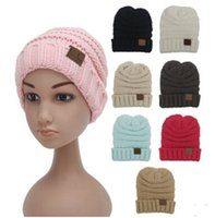 Wholesale Baby Beach Protection - MOQ 30 pcs kids Winter Warm Hat Knitted CC Hat Label Children Simple Chunky Stretchable kids Knitted Beanies Baby Hat Beanie Skully Hats