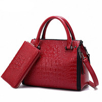 Wholesale Large Tote Patterns - Luxury High PU Leather Crocodile pattern Women's Bags Famous Designer Large Shoulder Bags Purse And Handbags Soft Bolsos Mujer