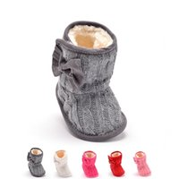 Wholesale Crocheted Kids Shoes Boots - Winter Warmth Baby Kids Cotton Fabric Shoes Boys Girls Toddler Skid Resistance Baby First Walker Shoes Shipping Free 0316