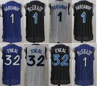 Wholesale Shirts Mens Stitching - 2017 McGrady Mens Throwback 32 Retro Shaquille O'Neal Shaq Jersey Stitched 1 Tracy McGrady 1 Penny Hardaway Jersey Stitched Shirts