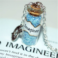 Wholesale Painted Glass Bottles - 12pcs IMAGINEER Magical glass Bottle Necklace with a Paint Palette Charm the First Imagineer Inspired necklace