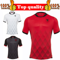 Wholesale Nationals Football - 2017 Albania Home Red Soccer Jersey 17 18 Albania National Away black Soccer Shirt Customized White Football Uniform Sales