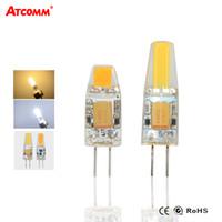 Wholesale Halogen Lumen - Wholesale- COB LED Diode G4 Lamp 12V 3W 6W High Lumen No Flicker G4 Chip Chandelier Bombillas Replace Halogen Spotlight Lampada