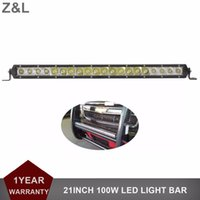 Barato Trailers-21 '' 100W Offroad LED Light Bar Driving Lamp 12V 24V Carro SUV Truck Trailer Pickup Van Camper Wagon 4WD AWD 4X4 UTV Headlight