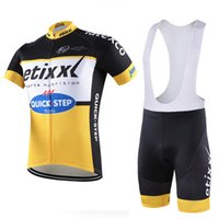 Wholesale Spain Cycling - etixx quick step Pro Team Cycling Jersey Bike Clothing Set Short Sleeve Cycle Ropa Ciclismo Cycle Bicycle Clothes spain C2804