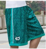 Wholesale man bermuda shorts - Basketballs Short Fashion 2016 Summer Brand KD Kevin Durant Hot Baggy Bermuda Male Loose Runs Men's Shorts Active Plus Size 3XL