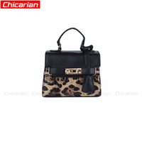 Chicarian Leopard Print Kid handbag Moda PU Leather Kids Girl Tote Baby Design exclusivo Baby infantil Designer Child Purse 5 cores CA024