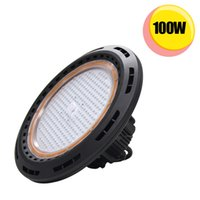 Wholesale Ufo Ceiling Light - 250W MH Equivalent 100W UFO LED High Bay Light Hook Mounted Ceiling Fixture IP65 Waterproof 60 degree beam 3030 SMD Warehouse Shop Lighting