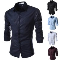 Wholesale Wholesale Men S Down Coats - Wholesale- 2015 Brand Locomotive Coating Print Fashion Mens Dress Shirts Slim fit Long sleeve Casual Social Camisa Masculina for Man XXL