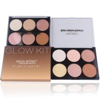 Wholesale Miss Rose Palette - Highlight Makeup Powder Palette Contouring Shimmer Bronzer And Highlighter Waterproof Bronzers Highlighters Glow Kit Miss Rose