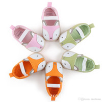 Wholesale Cute Baby Girl Toddler Infant - Baby Fox Soft Sole First Walker Shoes Infant Cartoon Kids Princess Shoes Newborn Boys Girl Toddler Non-Slip Prewalker Cute Animal Shoes F402