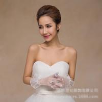 Wholesale Ivory Satin Wedding Fingerless Gloves - New Ivory High Quality 2017 Fashion New Style Bridal Gloves Long Satin Wrist Length Elegant Bridal Wedding Gloves bride glove Free Shipping