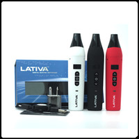 Wholesale dry herb vaporizer charger - Authentic Airis Lativa Dry Herb Vaporizer Starter Kits Huge Vape Pen with USB Charger 2200mah Battery OLED Digital Display
