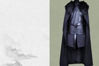xxs cadılar bayramı kostümleri toptan satış-Cadılar bayramı Kostümleri Oyunu Thrones V Cosplay Jon Kar Cosplay Fantezi Farty Erkekler Kıyafet Yelek + Etek + Pelerin + Kemer Ücretsiz Kargo