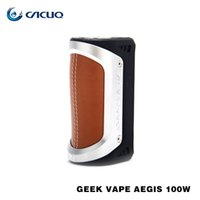 Wholesale Supports E Cigarette - Authentic geekvape Aegis Mod 100w e cigarette vape mods Waterproof, Shockproof and Dust-proof box mods Supports both 18650 26650 battery