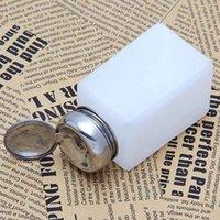 Wholesale Alcohol Pump Dispenser - Wholesale- 200ML Empty Pump Dispenser Nail Polish Liquid Alcohol Remover Cleaner Bottle