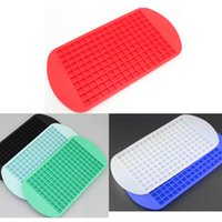 Wholesale Frozen Bar Drinks - 160 Ice Tray Ice Cubes Frozen Mini Cube Silicone Mold Maker For Kitchen Bar Party Drinks Mould Tray Pudding Tool