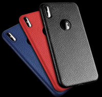 Wholesale Fast Texture - Luxury Leather Texture TPU Case For apple iPhone 8 6 7 Plus Anti-fingerprints Soft TPU Case with Opp bag Fast shipping