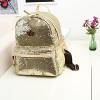 Wholesale Top Selling School Backpacks - 2017Hot-selling Womens Fashion Cute Girls Sequins Backpack Paillette Leisure School BookBags Free Shipping Top Quality free shipping