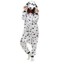 Wholesale unisex adult kigurumi animal for sale - Brand New Unisex Adult Kigurumi Pajamas Spotty Dog Costume Cosplay Animal Onesies Men Women Cartoon Sleepwear Jumpsuit