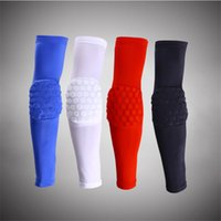 Vente en gros - 1 pcs Lycra Honeycomb Basketball Coussinets Sport Sécurité Volleyball Long Sleeve Sleeve Support Coussinets Support Cycling Protect