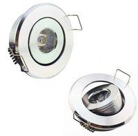 Wholesale mini spotlights cabinet - 1W LED Downlights Cabinet Mini Ceiling Down Lighting 1 Watt Spot Light Bulbs Warm white Cool white Spotlight Bulb Lamp Lights Lamp CE ROSH