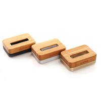 Wholesale Dock Charger Station 4s - Bamboo Wooden Aluminum Charger Dock Tray Stand Charging Station For 6 Plus 5S 5C 4S Wooden Phone Stands Data Cable Charger