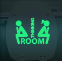 ingrosso adesivi da bagno-2017 vendita calda bagno autoadesivo luminoso toilette fluorescente impermeabile autoadesivo della parete adesivo rimovibile Adesivo De Parede Para Quarto TOP1670