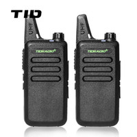 Оптовое - Mini Walkie Talkie TID Radio TD-M8 Двусторонняя радиостанция UHF 400-470MHz Communicator CB Ham Radios HF Transceiver