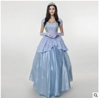 Wholesale Sissi Costume - Europe and the United States blue court points code Halloween costumes Sissi fairy tale queen's clothes The princess party dress