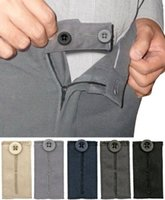 """Wholesale Trouser Hooks Wholesale - Easy Fit Hooks & Buttons. Extend Your Trousers or Skirt 1 2"""" to 2"""". Set Includes 5 Colors a bag HJ079"""
