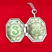 Wholesale Movie Kits - Movie Harry Series Magic Slytherin Locket Horcrux Snake Photo Box Locket Horcrux Kit pendant&necklace Fine Jewelry Free Shipping DHL 160605