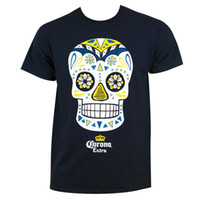 Wholesale Dia Los Muertos Shirt - Extra Dia de los Muertos Tee Shirt new High Quality 100% Cotton men's T Shirt cheap sell Free shipping