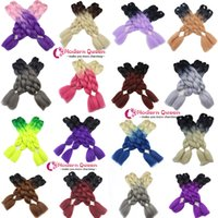 Wholesale Kanekalon 33 - Ombre Two tone 24inch 100g Crochet Braids Twist synthetic hair extensions Wholesale Synthetic Hair Kanekalon Jumbo synthetic braiding hair