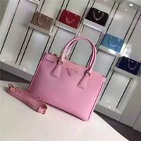 Wholesale Elegant Fashion Handbags - Woman Bag Brand designer Genuine leather saffiano tote new arrival handbag luxury fashion free shipping elegant top quality cowskin 1801