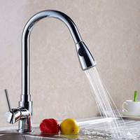 Wholesale Cheap Kitchen Sinks Faucets - Cheap Home Coming !!! Best Kitchen Faucet with Pull out  pull down   360° Rotatable Chrome Sink Mixer Tap HS305