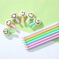 Wholesale Write Rice - 24 Pcs Lot Rice Roll Gel-ink Pens Cute Smile Gel Pen Stationery Office Material School Supplies Canetas Escolar