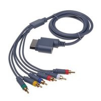 Wholesale Hd Component Adapter - 6in1 HD Component AV Cable Cord Adapter for HDTV Microsoft Xbox 360 XBOX360 AAAAMA