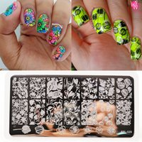 Wholesale rose template resale online - BORN PRETTY BP L029 Tulip Flower Nail Art Stamping Stamp Template Rose Image Plate Manicure Deroration