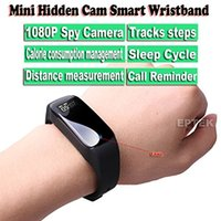Wholesale Spy Smart - HD 1080P Mini Spy Hidden Camera DVR Intelligent Bracelet Camcorders Video Recorder Covert Smart Wristband Camera DV Security Cam