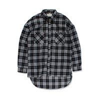 Wholesale Oversized Collar Shirt - Black White Plaid Flannel Shirt Men Long Sleeve 2017 Spring Fron Short Back Long Hip Hop Shirt Oversized Shirts Justin Bieber
