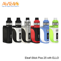 Wholesale Tanks 25 - Eleaf iStick Pico 25 with ELLO Stater Kit Single 18650 Cell Support 85w and 2ml Capacity Ello Tank