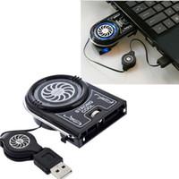 Wholesale Mini Notebook Fan Case - Mini Vacuum Air Extracting USB Case Cooler Cooling Fan Idea for Notebook Laptop